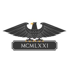 Heraldic eagle 21 vector image