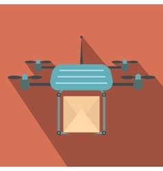 Quadcopter flat icon vector image