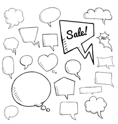 set of speech bubbles group of doodle vector image vector image