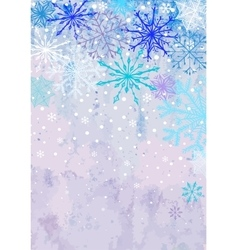 Vertical winter snowstorm background vector image