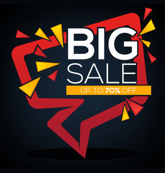 big sale speech bubble discount banner and label vector image