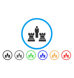 chess strategy rounded icon vector image