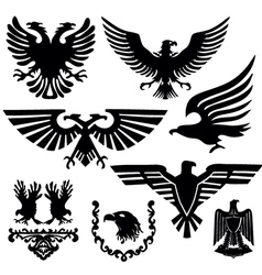 Coat of arms with an eagle vector