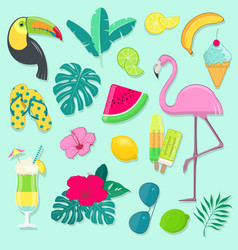 collection of summer party icons vector image vector image