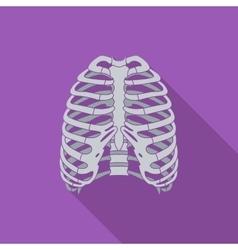 Icon of human thorax vector image