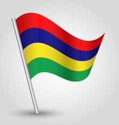 Mauritian flag on pole vector