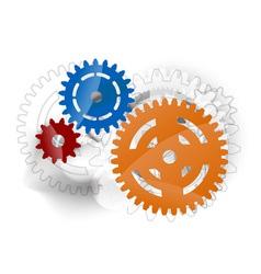 three cogwheels vector image vector image