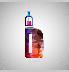 abstract creative concept icon of vape for vector image