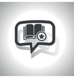 Curved favorite book message icon vector