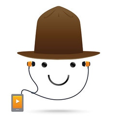 Smile Music Hat vector image vector image