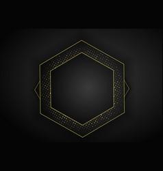 Abstract dark metallic overlap background luxury vector