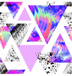 abstract watercolor triangle seamless pattern vector image vector image