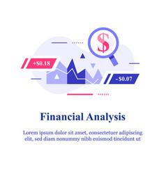 Analyse finance stock market data invest vector