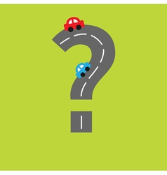 Background with road in shape of question mark vector