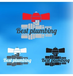 Best plumbing design for business sign icon vector