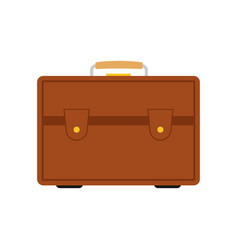 brown travel bag with luggage vector image