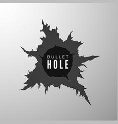 bullet hole banner design element torn metal vector image