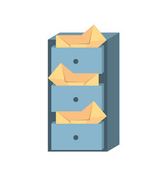Cabinet mail envelope storage vector