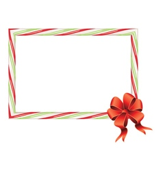 Candy Cane Frame4 vector image