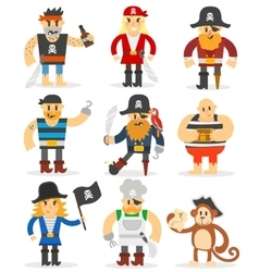 Cartoon pirates set vector image