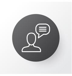 Chatting icon symbol premium quality isolated vector