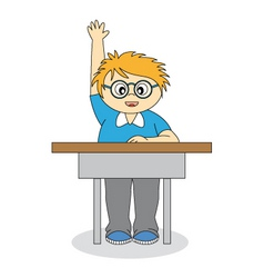 child in school vector image
