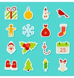 Christmas Holiday Stickers vector image