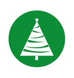 Christmas tree decorative icon vector