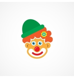 Clown icon vector