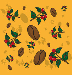 Coffee patterns background vector