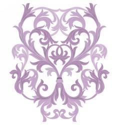 Damask Baroque element vector