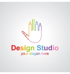design studio vector image