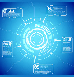 Digital futuristic interactive infographics vector