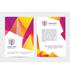 Document letter or logo style cover vector