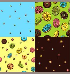 donut patterns vector image
