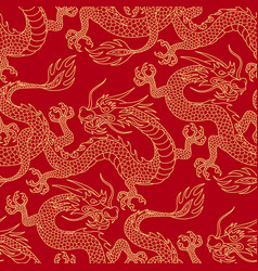 Dragons on red vector