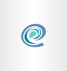 e letter stylized logo icon e vector image