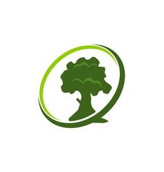 Ecology care center vector