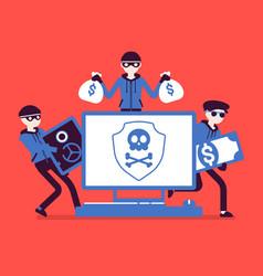 Electronic theft danger vector