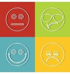 Emoji emoticons icons vector