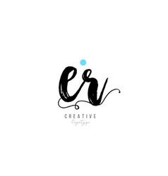 Er e r vintage letter alphabet combination logo vector