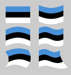 Estonia flag Set of flags of Estonia in various vector image