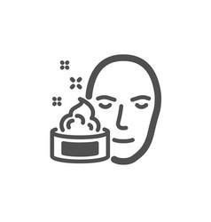 Face cream icon skin care lotion sign vector
