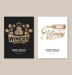 Family winery badge poster flyer template card vector