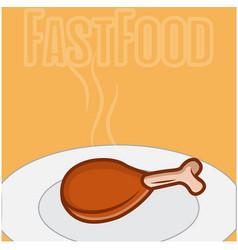 fast food chicken vector image