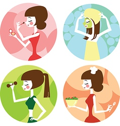 Female lifestyle vector image
