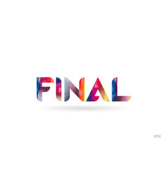 Final colored rainbow word text suitable for logo vector