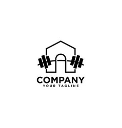 Fitness center logo design template vector