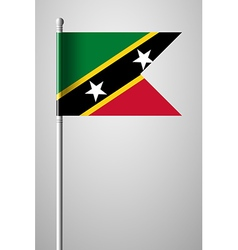 Flag of Saint Kitts and Nevis National Flag vector