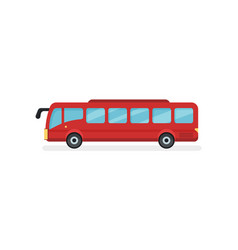Flat icon of red city bus motor vehicle vector